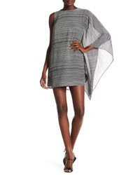 Ali & Jay Gray Drape Sleeve Mini Dress
