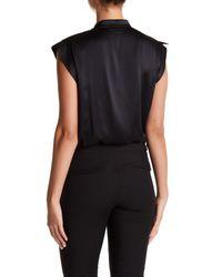 Lamarque - Black Cinta Silk Bodysuit - Lyst