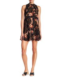 Free People - Black She Moves Minidress - Lyst
