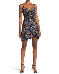 RACHEL Rachel Roy Blue Ruffle Jacquard Mini Dress