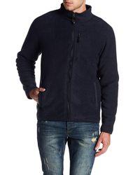 Weatherproof - Blue Stripe Fleece Jacket for Men - Lyst