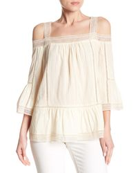 Paul & Joe Natural Nattier Cold Shoulder Knit Blouse