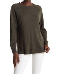 Sweet Romeo Multicolor Modern Girl Ribbed Raglan Sleeve Pullover Sweater