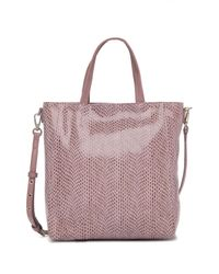 Sorial Multicolor Rubina Lizard Embossed Leather Mini Tote Bag