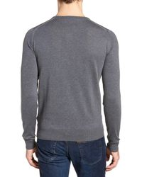 John Smedley - Gray Crewneck Sweater for Men - Lyst