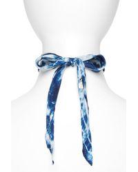 DANNIJO Blue Iris Silk Bandana Choker Necklace