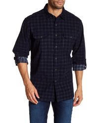 Pendleton - Blue Cord Fairbanks Plaid Regular Fit Shirt for Men - Lyst