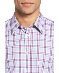 Jeremy Argyle Nyc - Blue Plaid Sport Shirt for Men - Lyst