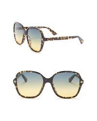 Gucci Multicolor Square 55mm Sunglasses