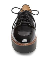Madden Girl - Black Written Patent Flatform Creeper - Lyst