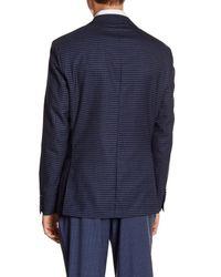 Simon Spurr - Blue Check Two Button Notch Lapel Wool Sports Coat for Men - Lyst