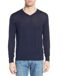 Jeremy Argyle Nyc - Blue V-neck Sweater for Men - Lyst