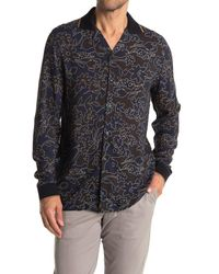 Reiss Blue Majesty Ombre Floral Slim Fit Shirt for men
