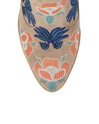 Rebecca Minkoff   Blue Lulu Too Flower Embroidered Bootie   Lyst
