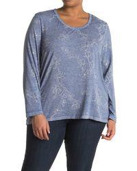 C&C California Blue Burnwash High/low Long Sleeve T-shirt