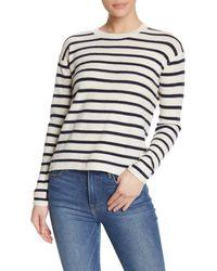 Velvet By Graham & Spencer Multicolor Wool Blend Striped Sweater