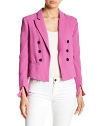 Romeo and Juliet Couture Pink Goldtone Accent Blazer