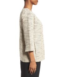 Eileen Fisher Natural Cotton Blend Round Neck Jacket