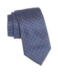 BOSS - Blue Dot Silk Tie for Men - Lyst