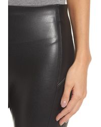 Nordstrom - Black Faux Leather Leggings - Lyst