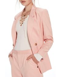 Scotch & Soda Pink Slim Fit Double Breasted Blazer