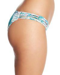 Rip Curl Blue Tropic Tribe Luxe Hipster Bikini Bottoms