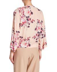 Dress Forum Pink Floral Wrap Top
