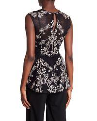 BCBGMAXAZRIA Black Embroidered Blouse