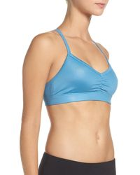 Alo Yoga - Blue Sunny Strappy Soft Cup Bralette - Lyst