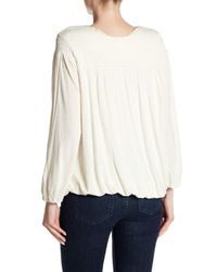 Free People Natural Begonia Embroidered Top