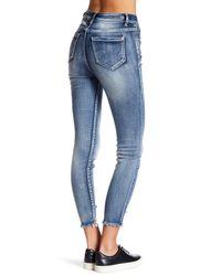 Kensie - Blue High Roller Sharkbite Skinny Jeans - Lyst