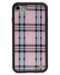 Wildflower Pink Tartan Plaid Iphone 6/7/8 Plus Case