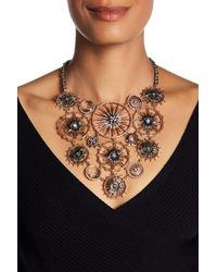 Jenny Packham - Metallic Crystal Bib Necklace - Lyst