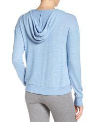 Make + Model Blue Pullover Hoodie