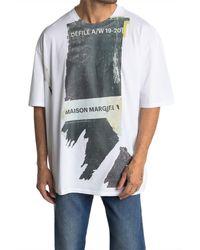 Maison Margiela Multicolor Logo Print T-shirt for men