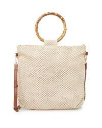 Urban Expressions Natural Hanalei Bamboo O-ring Crochet Crossbody Bag