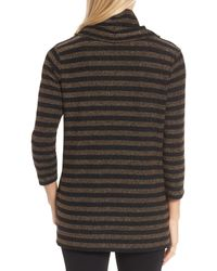 Chaus - Multicolor Metallic Stripe Cowl Neck Shirt - Lyst
