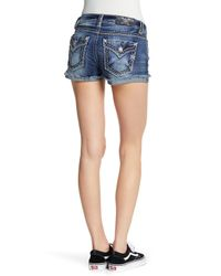 Miss Me - Blue Distressed Signature Shorts - Lyst