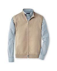 Peter Millar Natural Knit Zip Front Vest for men