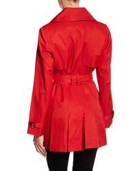 Via Spiga - Red Hooded Trench Coat (petite) - Lyst