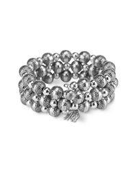 Carolyn Pollack | Metallic Sterling Silver 8mm Native Pearl Coil Bracelet | Lyst