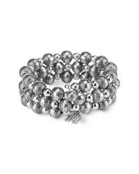Carolyn Pollack - Metallic Sterling Silver 8mm Native Pearl Coil Bracelet - Lyst