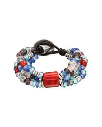 Uno De 50 - Blue Flying Colors Beaded Bracelet - Lyst