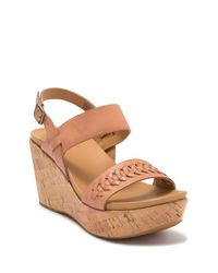 Kork-Ease Brown Austin Braid Wedge Sandal