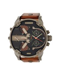 DIESEL - Multicolor Men's Mr. Daddy Chronograph Leather Strap Watch, 57mm for Men - Lyst