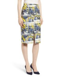 Emerson Rose Blue High Waist Skirt