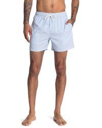 Reiss Blue Simon Seersucker Drawstring Shorts for men