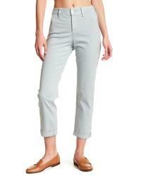 NYDJ - Multicolor Riley Stretch Twill Relaxed Trouser - Lyst