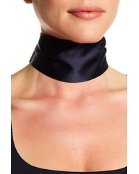 Marc Jacobs - Metallic Crystal & Imitation Pearl Ribbon Collar Necklace - Lyst