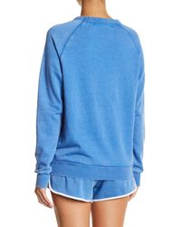 The Laundry Room Blue Airplane Mode Fleece Sweatshirt